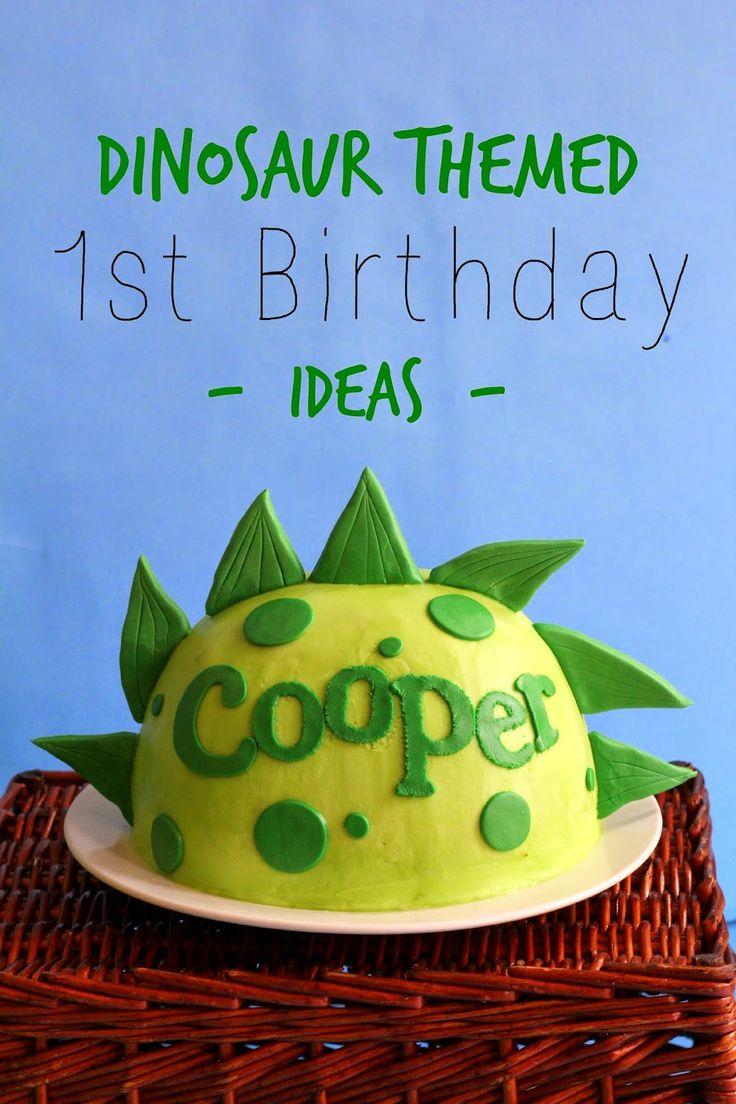 dinosaur Themed Birthday Cake | Lou Lou Girls : Dinosaur Themed First Birthday Party Ideas