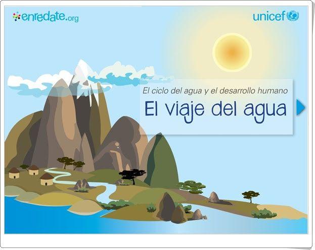 """""""El viaje del agua"""". Educación Secundaria.  (Presentación interactiva de Unicef)"""