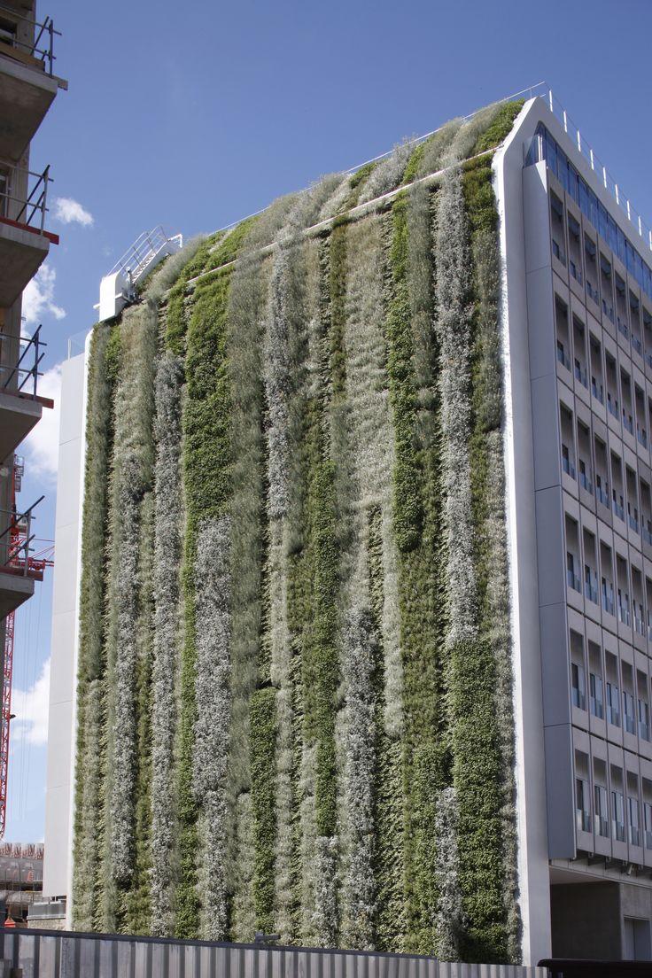 Ruban v g tal sur l 39 immeuble anthos boulogne billancourt 92 b timent biodiversit - Immeuble vegetal ...