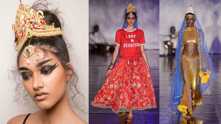 Settimana della Moda di Londra 2017  Ashish Gupta ci ha portato nella sua India. Le sue modelle non erano solo vestite da bellezze indiane, ma anche da Dee. E l'ispirazione è venuta dalla vecchia Bollywood, dai colori e dai toni ingenui dei film indiani.