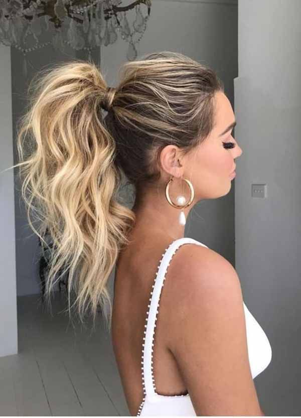 If You Want Only A Glamorous Look With Your Ponytail Hairstyle You Can Get Any Better Option You Like Hair Styles High Ponytail Hairstyles Ponytail Hairstyles