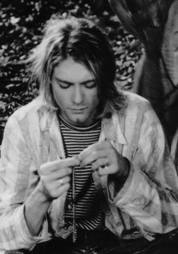 Mr. Kurt Cobain. As some critics like to say, there are certain people where you can see the axis of musical history twisting on them: Hendrix was pivotal, Prince was pivotal, Cobain was pivotal.