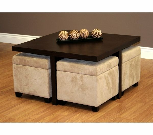 La Table Basse Avec Pouf Pour Un Style De Vie Moderne Archzine Fr Table Basse Pouf Table Basse Table Basse Ottoman