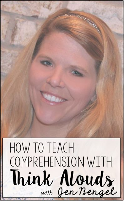 Out of This World Literacy : Day Twelve: How to Teach Comprehension with Think ...