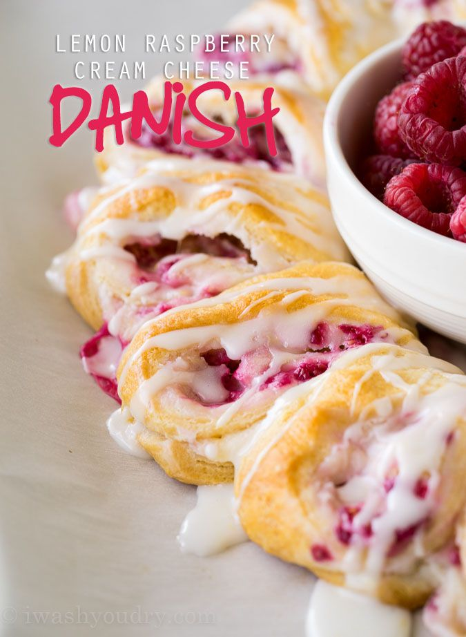 My whole family LOVED these Lemon Raspberry Cream Cheese Danish Rolls. They're so easy to make too!