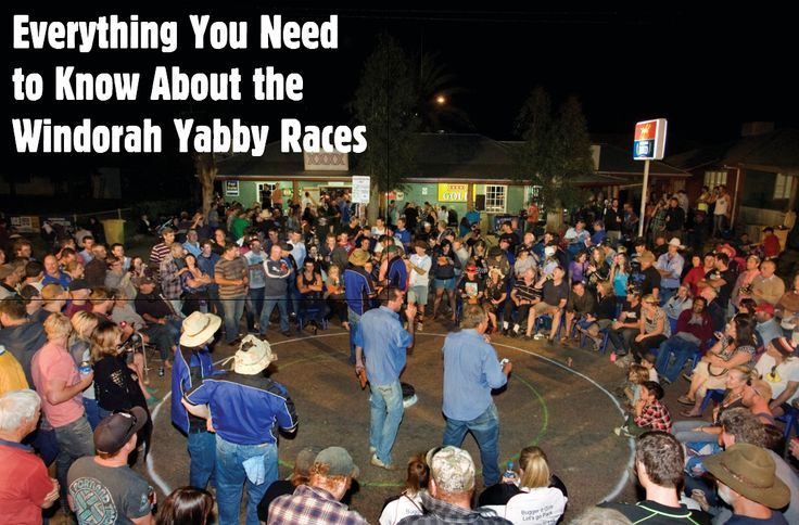 EVERYTHING YOU NEED TO KNOW ABOUT THE WINDORAH YABBY RACES