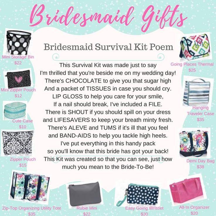 Thirty-One Bridesmaid Gifts Www.mythirtyone.com/1838294 Facebook: https://m.facebook.com/BethThirtyOneGroup/