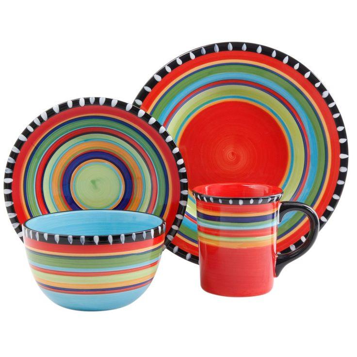 Carvey Pueblo Springs 16 Piece Dinnerware Set, Service for 4