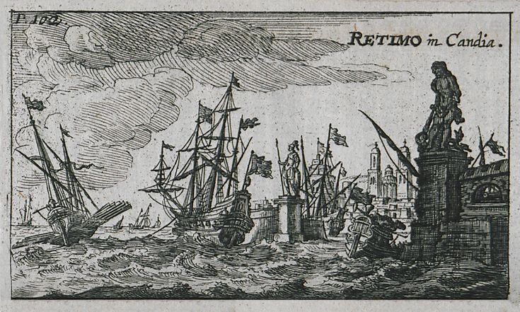 1687 Το λιμάνι του Ρεθύμνου. - SANDRART, Jacob von - ME TO BΛΕΜΜΑ ΤΩΝ ΠΕΡΙΗΓΗΤΩΝ - Τόποι - Μνημεία - Άνθρωποι - Νοτιοανατολική Ευρώπη - Ανατολική Μεσόγειος - Ελλάδα - Μικρά Ασία - Νότιος Ιταλία, 15ος - 20ός αιώνας