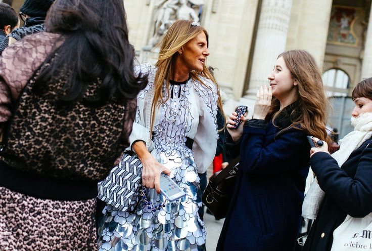 Anna Dello Russo (center) in Chanel