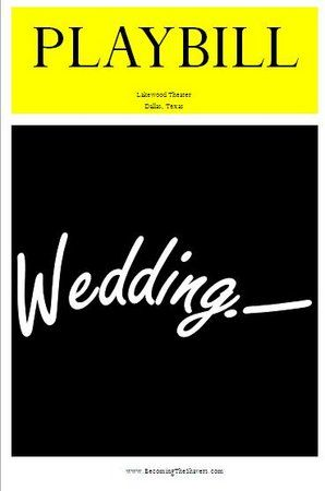 30 best wedding playbills images on pinterest wedding