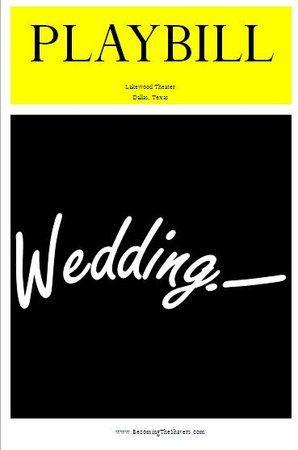 30 best images about wedding playbills on pinterest