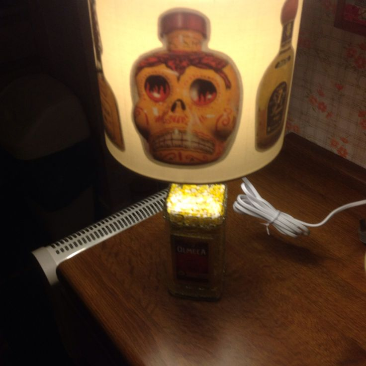 Custom and handmade tequila bottles lampshade for my tequila lamp (view 4)
