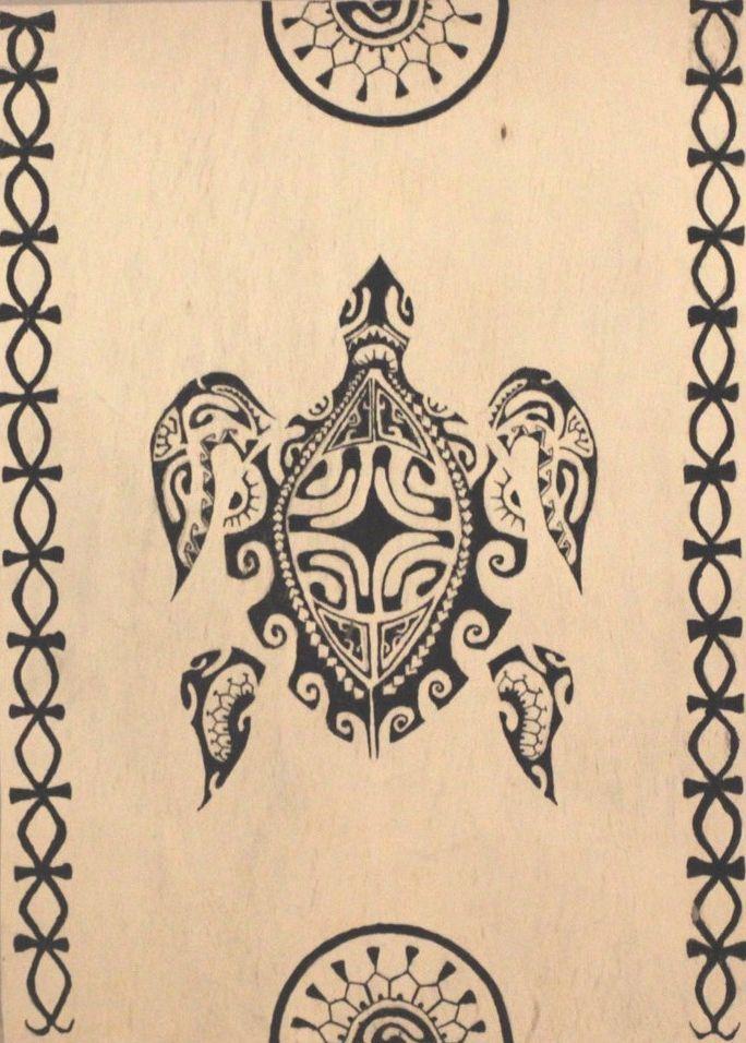 TAPA Honu Kena - Décoration/Tapas - Polynesian Art Creation