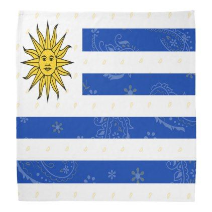 Uruguay Flag Bandana - accessories accessory gift idea stylish unique custom