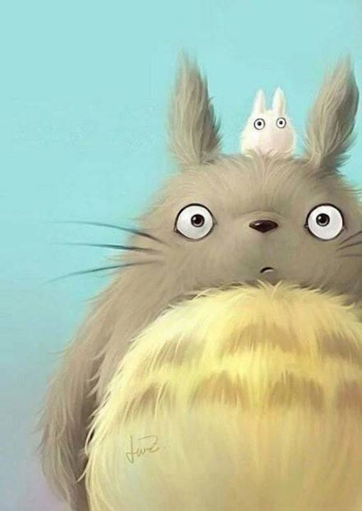 I can imagine how soft it feels when I touch Totoro... Isnt it Cute