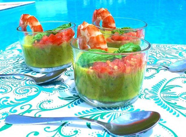 Zuppetta fredda di zucchine e semi di chia