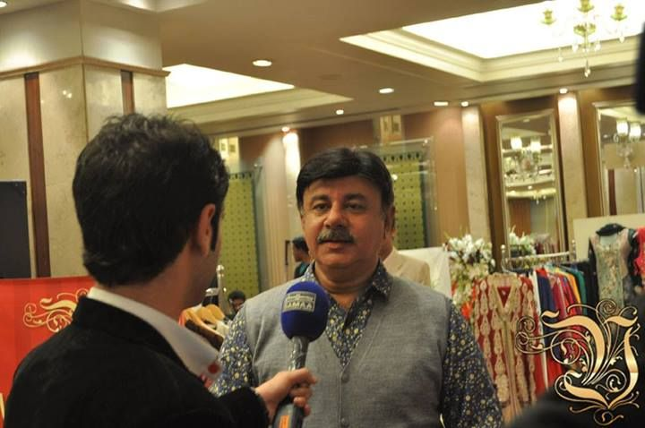 Shahzad Masood Owner of Vestiarie was interviewed by SAMMA News Channel in Fashion Exhibition at PC Rawalpindi on 4th March 2014.