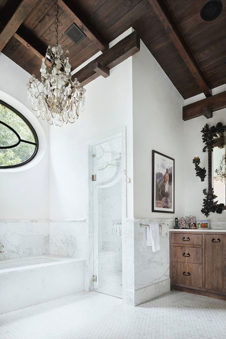 best 25 mediterranean small bathrooms ideas on pinterest all white plus amazing wood ceiling chandelier is a must