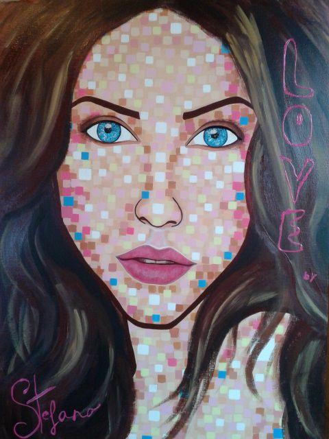 Love by:STEFANO acrylic on canvas fashion art