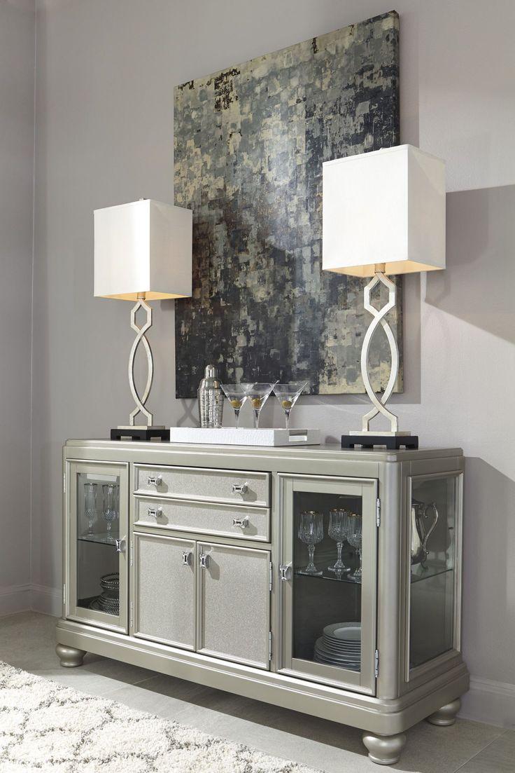 86 best silver platinum furniture ideas images on pinterest signature design by ashley coralayne silver dining room server server