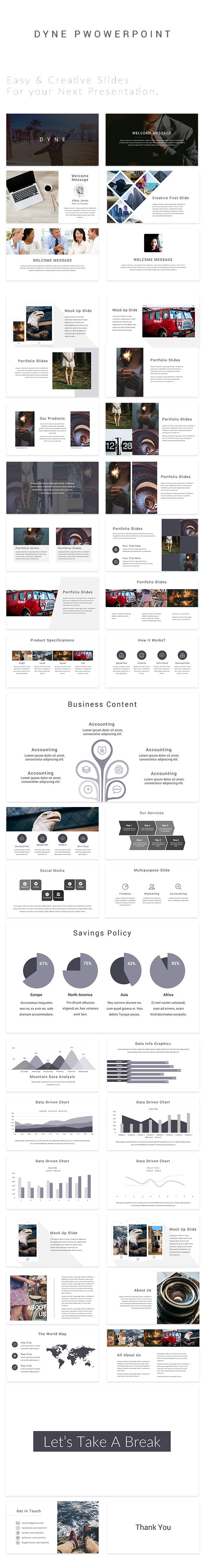 DYNE PowerPoint  #business powerpoint templates #corporate • Download ➝ https://graphicriver.net/item/dyne-powerpoint/18432252?ref=pxcr