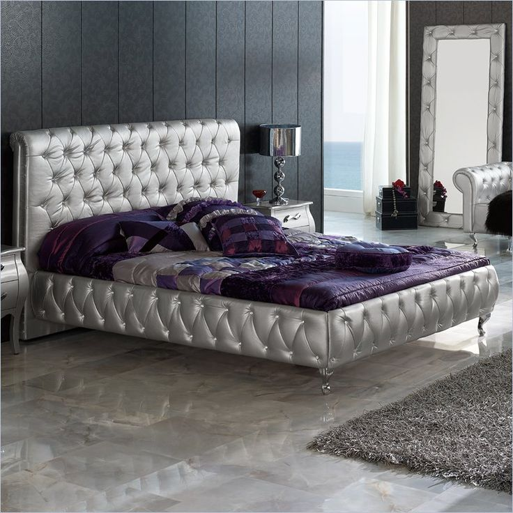 Dupen Lorena Bed in Silver - Lorena XS Bed