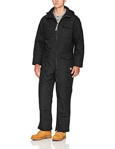 Work King Men's Deluxe Insulated Coverall, black, L