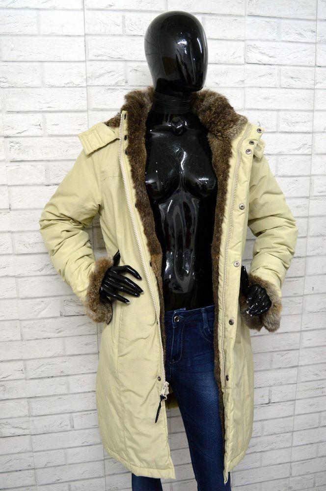Cappotto Donna WOOLRICH Taglia L Jacket Giacca Giubbotto Parka Pelliccia  Interna 132e35fec4a