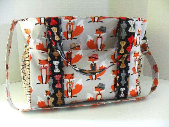 SALE Extra Large Chevron Diaper Bag Made of Dapper by fromnancy