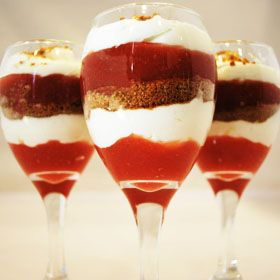 Rhubarb Parfaits, a recipe from ATCO Blue Flame Kitchen.