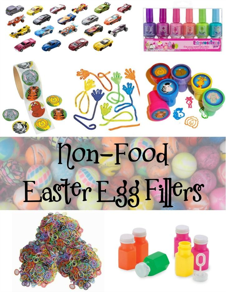 Non-Food Easter Egg Fillers - Filling eggs for an Easter Egg hunt? Check out this list of various non-food filler ideas.