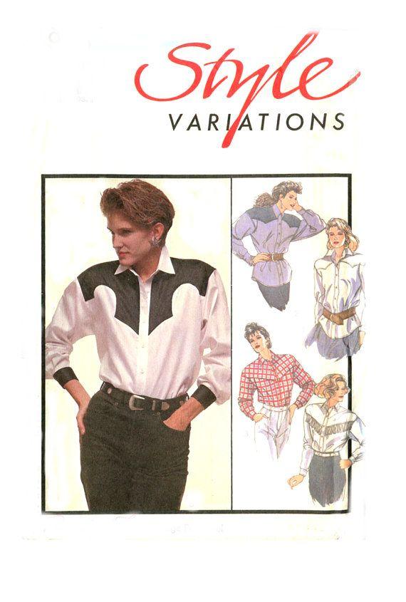 Womens Western Shirt Sewing Pattern Style 4970 Shaped