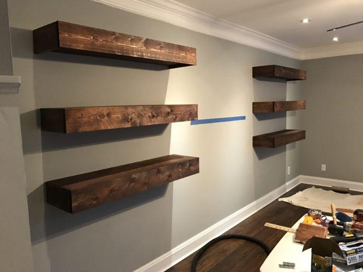 10 Mind Blowing Diy Floating Shelves With Images Floating Shelves Living Room Floating Shelves Bedroom Modern Floating Shelves