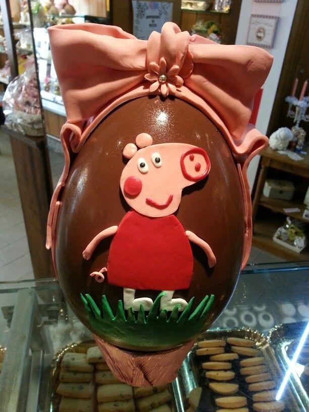 Uovo di cioccolato con peppa pig