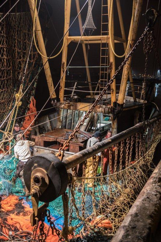 drukte op de vissersboot