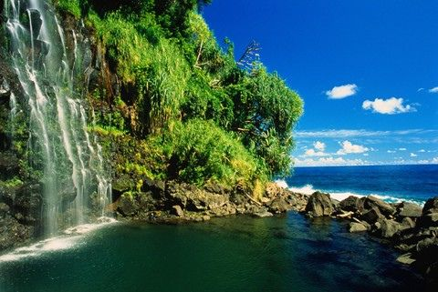 One of the most beautiful places on earth. Blue Angel Falls, Road to Hana, Maui