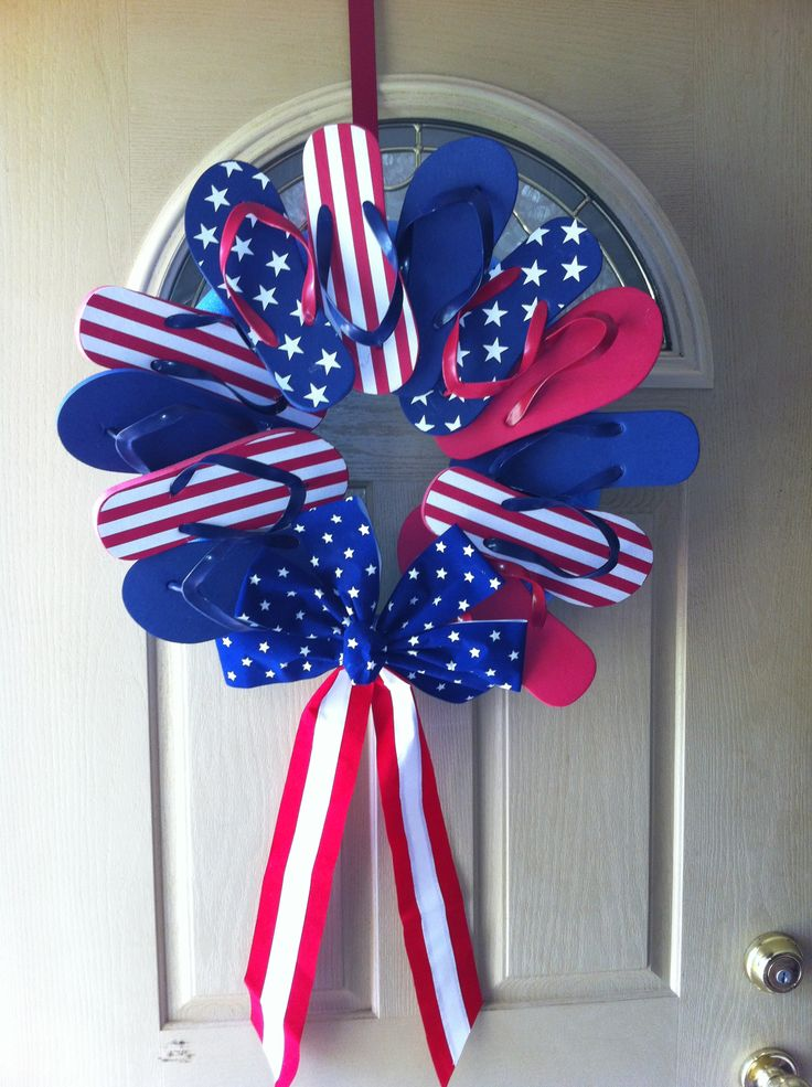 Patriotic Flip Flop Wreath