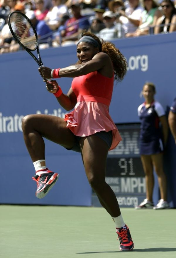 Serena Williams during 2013 U.S. Open tennis tournament, in New York