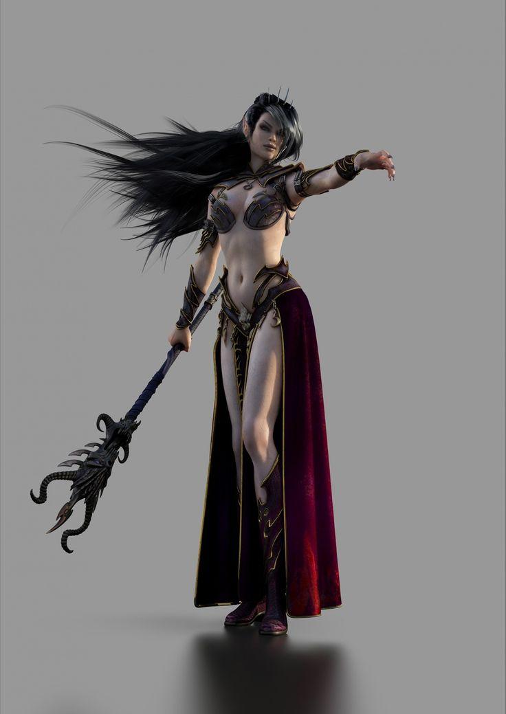 dark elf sorcerer http://szejones.cgsociety.org/art/warhammer-dark-elf-sorceress-fantasy-2d-1134608