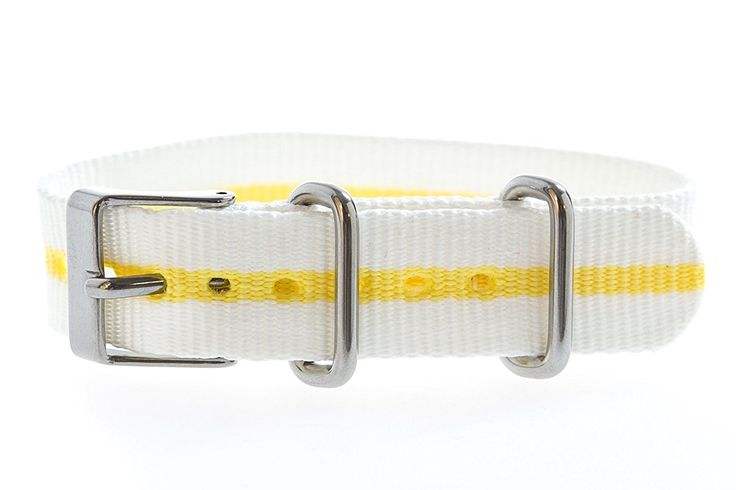 Timex T7B970 Weekender 16mm White/Yellow Nylon Slip-Thru Watch Strap >>> Want additional info for the watch? Click on the image.