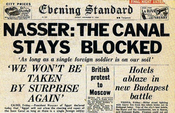 newpaper stories of 1956 The Suez Canal Crisis - Google Search