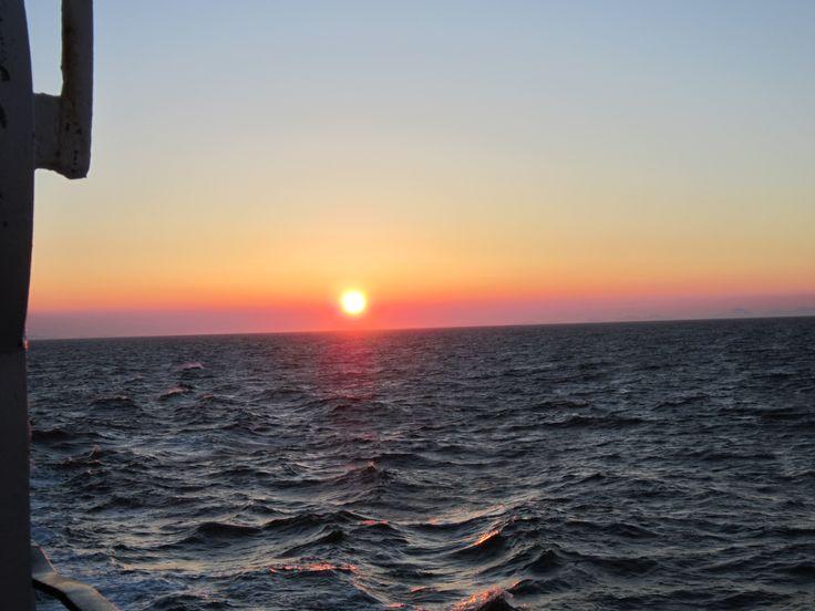 Sunset onboard LOTI