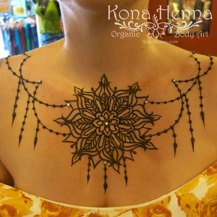 Henna Tattoo Chest: Organic Henna Products. Professional Henna Studio
