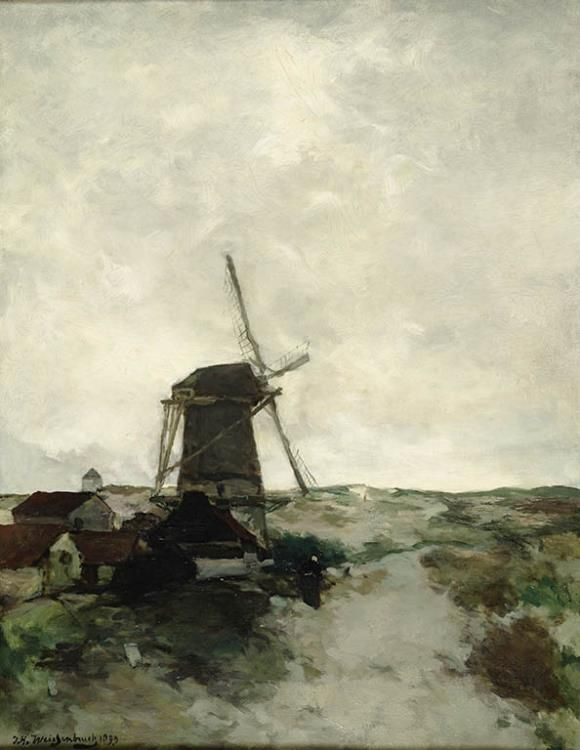 Jan Hendrik Weissenbruch, De molen schilderij