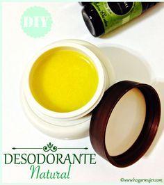 Desodorante: Aceite de coco, manteca de karité, bicarbonato, aceite esencial de lavanda y árbol de te.