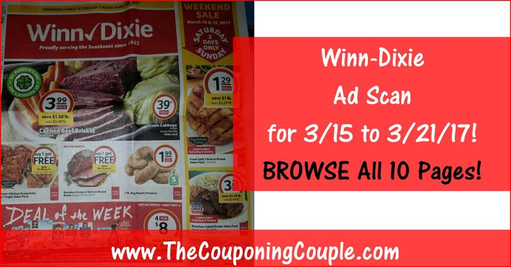 Who is ready to start working on their Winn Dixie Shopping List? Click the Picture below to BROWSE all 10 Pages of the Actual Winn-Dixie Ad Scan for 3/15 to 3/21/17 ► http://www.thecouponingcouple.com/winn-dixie-ad-scan-for-3-15-to-3-21-17/  Want us to Post these EARLY Advanced Ad Scans Every Week? If so leave a comment below and let us know (a SHARE would be appreciated too)!  #Coupons #Couponing #CouponCommunity  Visit us at http://www.thecouponingcouple.com for mo