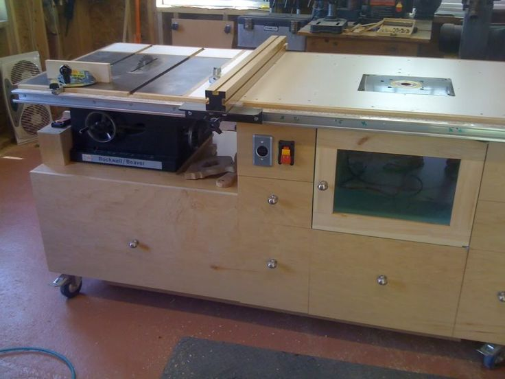 Mobile workbench/table saw/outfeed table/router table super-combo McDeal