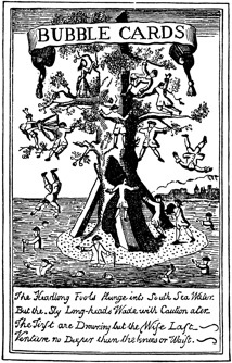 South Sea Company, trade card, tree caricature
