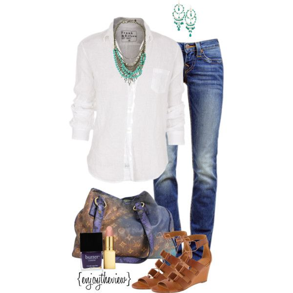 weekend casual by enjoytheview on Polyvore